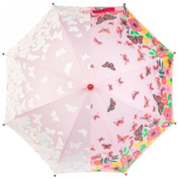 Barvno spreminjajoči dežnik METULJČKI